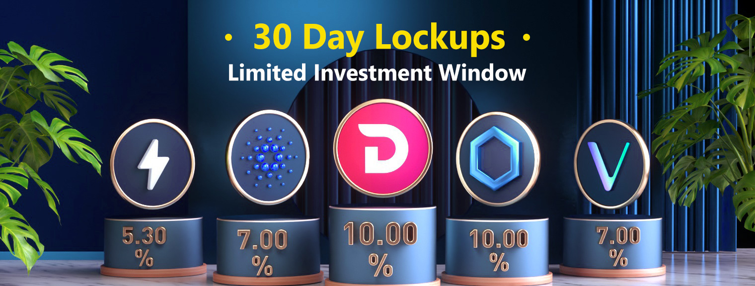 Limited Caps For LINK, DIVI, ADA & More in 30 Day Lockups